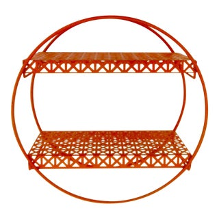 Atomic Circular Metal Mesh Wall Shelf For Sale
