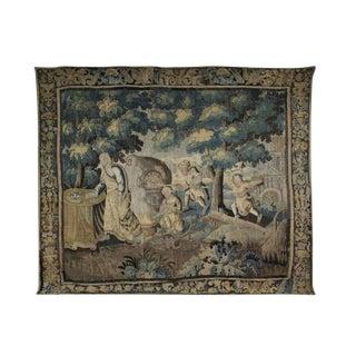 Flemish Verdure Garden Tapestry For Sale
