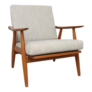 1950s Vintage Hans J. Wegner for Getama Danish Lounge Armchair For Sale