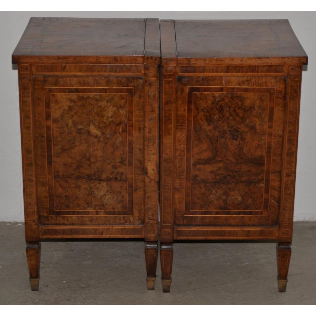 Late 18th Century Pair of Magnificent Late 18th to Early 19th Century Walnut Side Tables W/ Cabinets For Sale - Image 5 of 9