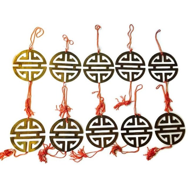 Vintage Brass Chinoiserie Ornaments - Set of 11 - Image 8 of 8