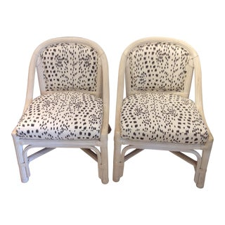 Mid Century Henry Link Chairs With Brunschweig & Fils Upholstery - a Pair For Sale