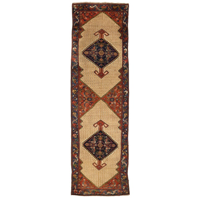 1920s Vintage Persian Malayer Design Rug - 3′5″ × 12′ For Sale