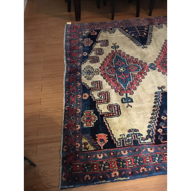 Antique Hand Knotted Persian Rug - 10 X 7 - Image 7 of 11