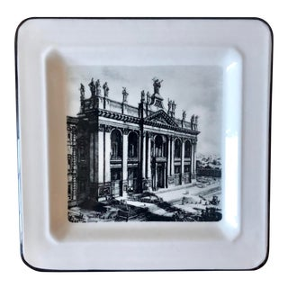Vintage Archbasilica of St. John Lateran Italian Decorative Plate For Sale