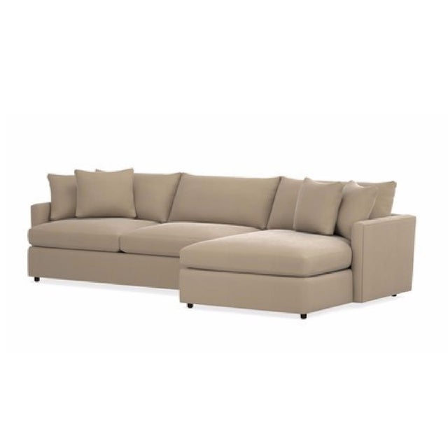 Crate & Barrel Lounge II 2 Piece Sectional Sofa For Sale In New York - Image 6 of 6
