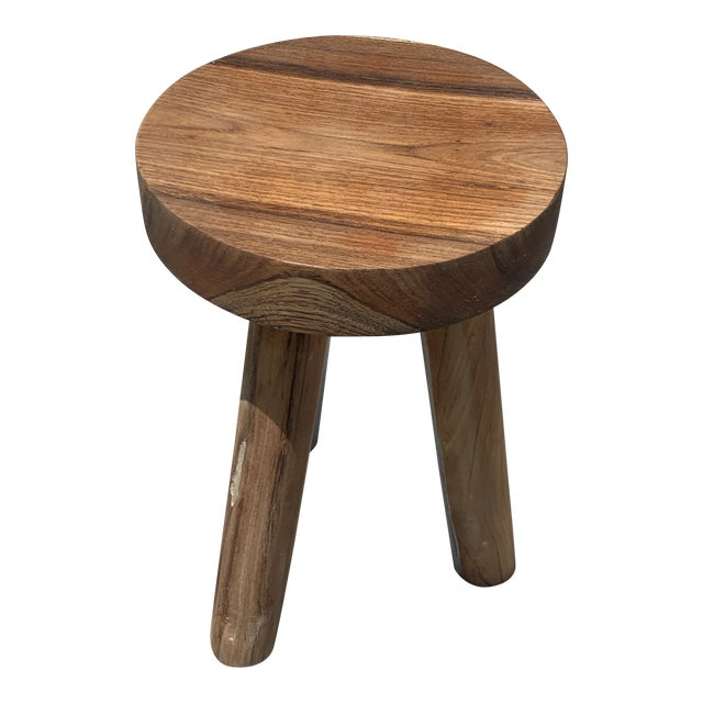 1970s Ingvar Hildingsson Style Pearwood Stool For Sale
