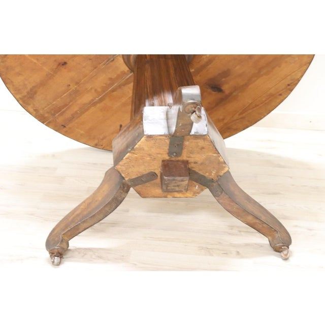 19th Century Empire Walnut Round Centre Table For Sale - Image 11 of 12
