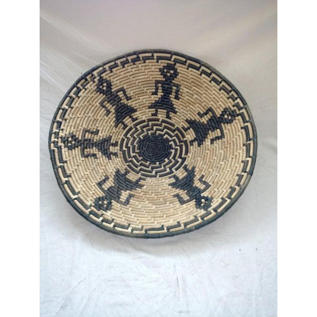 Rattan Vintage Figurative Woven Sri Lankan Festival Grain Basket For Sale - Image 7 of 7