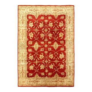 Red Color Fine Hand Knotted Oushak Rug 11'11'' X 17'3'' For Sale