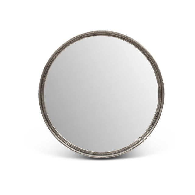 2010s Harmony Mirror, Vintage Silver For Sale - Image 5 of 5