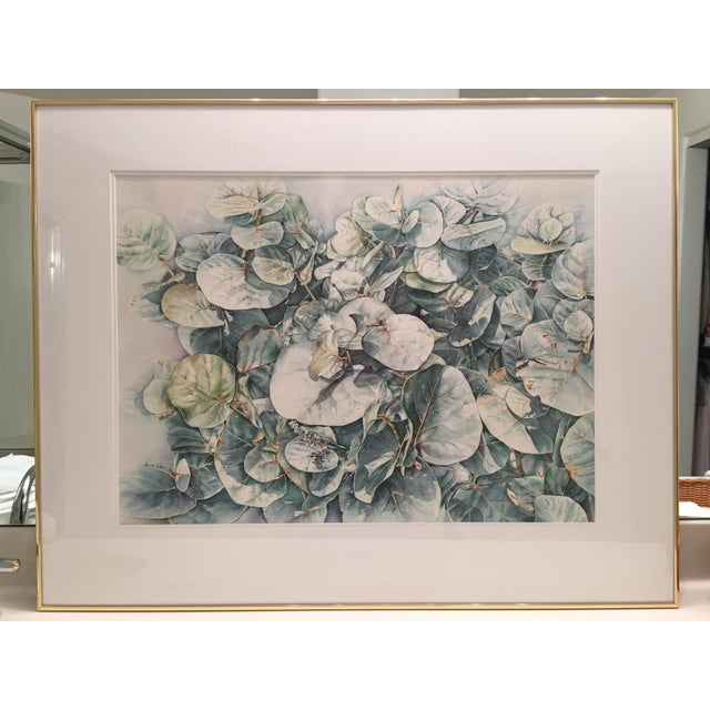 This is an original watercolor by Anna Chen, Chinese American artist, Chen famous for her beautiful floral displays,...