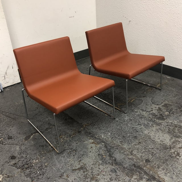 Andreu World Lineal Comfort Collection Side Chairs - A Pair - Image 3 of 7