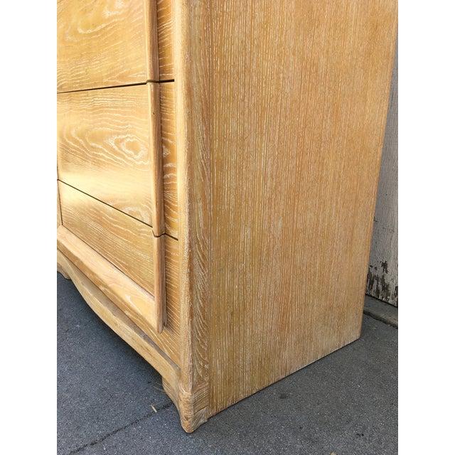 Art Deco Scultupral Cerused Ash High Boy Dresser For Sale - Image 10 of 12