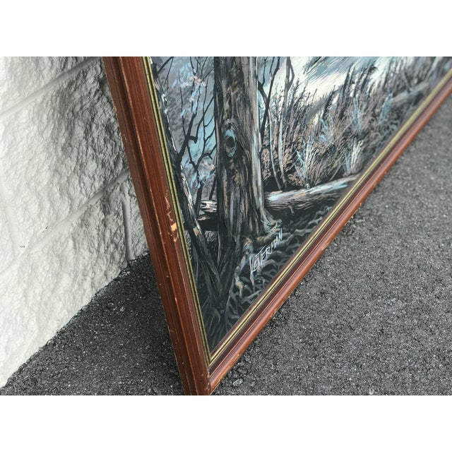 c0aff89c4298 Mid-Century Letterman Mallard Realist Landscape Scene Painting For Sale -  Image 9 of 10
