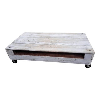 1960s Wooden Coffee Table For Sale