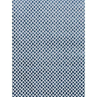 Sample, Scalamandre Etosha Velvet Jacquard, Bluestone For Sale