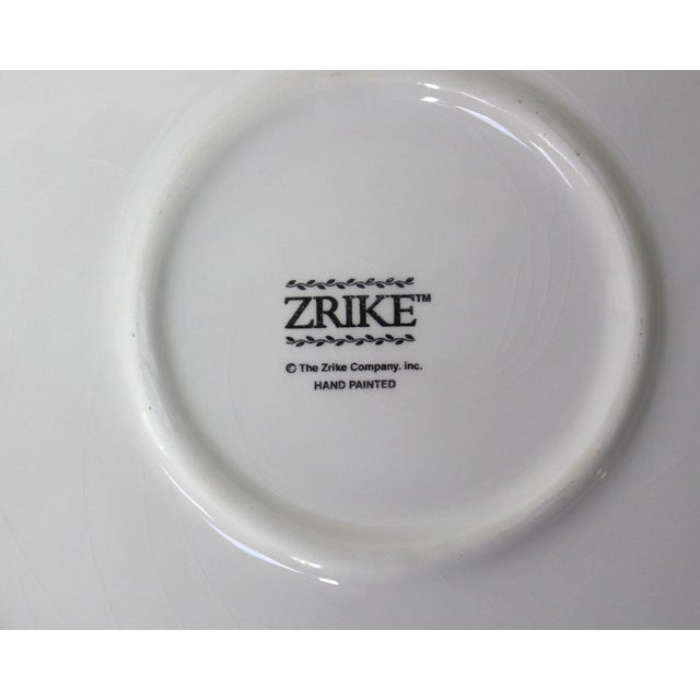 """Traditional Hand Painted Zrike Dinner Plates """"Flora"""" Pattern - Set of 8 For Sale - Image 3 of 4"""