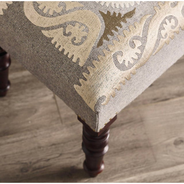 Persian Embroidered Bench - Image 2 of 5
