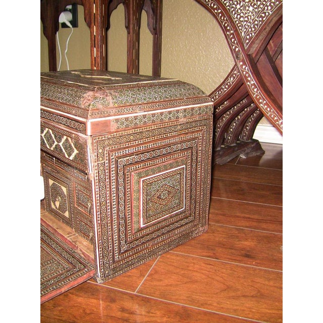 18c Indo Portugese or Persian Vargueno Mini Cabinet For Sale - Image 9 of 13