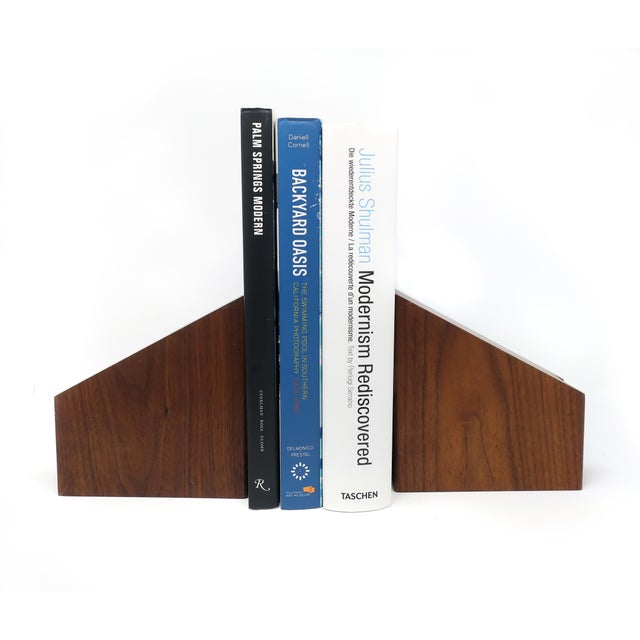 Wood Mid-Century Modern Walnut Bookends For Sale - Image 7 of 10