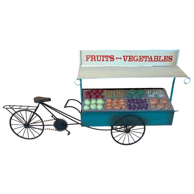 Curtis Jere Fruit and Vegetable Cart Metal Sculpture For Sale - Image 9 of 9