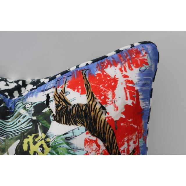 Modern Multi-Colored Christian Lacroix Pillow - Image 4 of 7