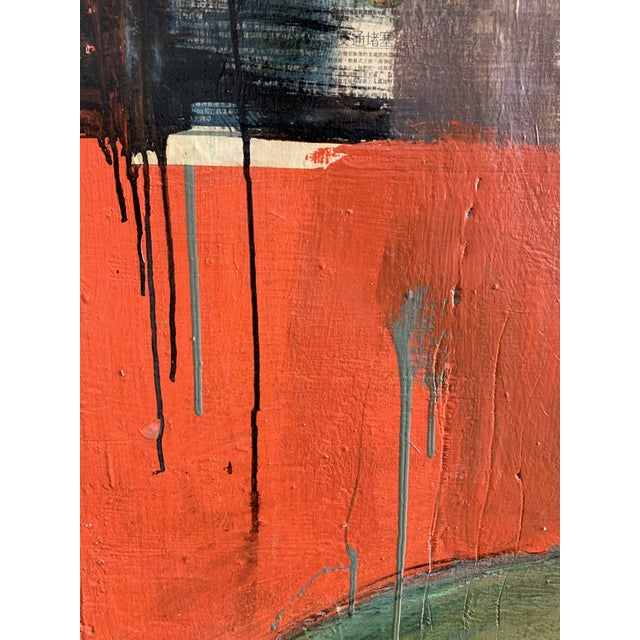 Large James Swinson Acrylic on Plywood & Plaster Painting For Sale In San Francisco - Image 6 of 11