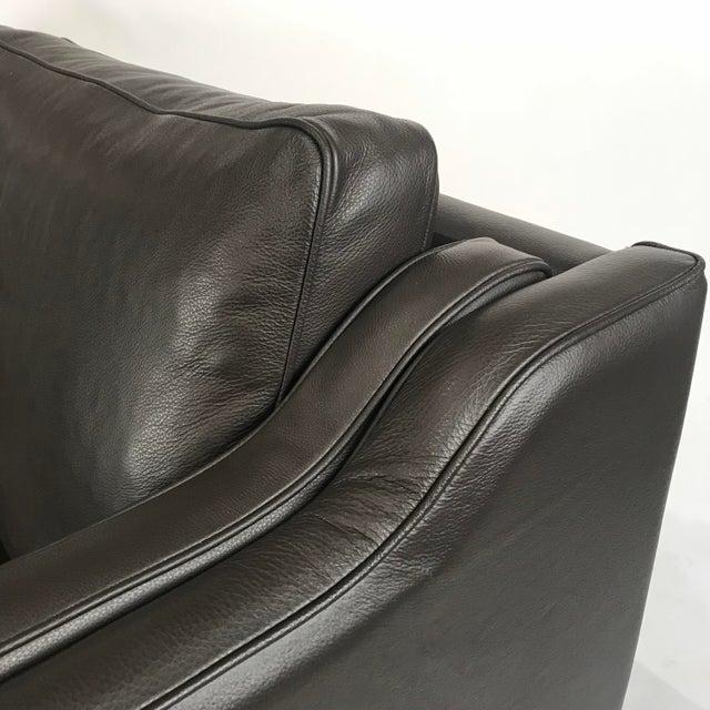Vintage Danish Black Leather 3-Seat Sofa - Image 3 of 5