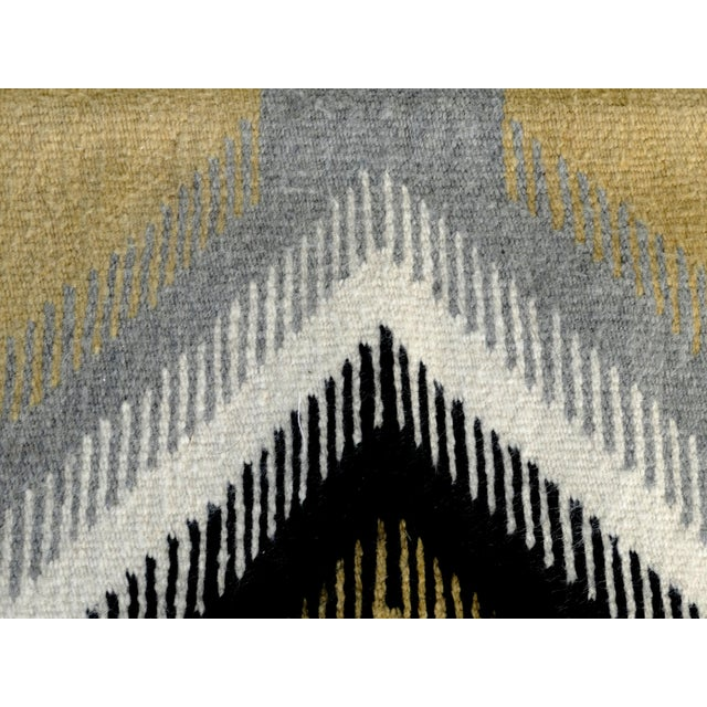 Mid-Century Modern 1940s Original Hand-Woven Navajo Rug For Sale - Image 3 of 8