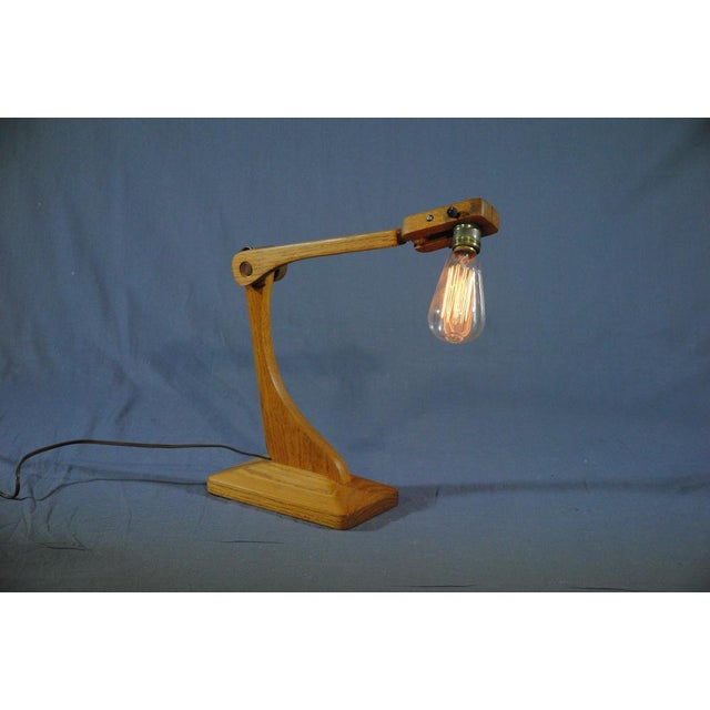 1960s Vintage Industrial Style Articulated Natural Desk Lamp For Sale - Image 10 of 10