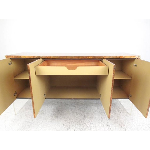 Milo Baughman Patchwork Copper and Lucite Sideboard in the Style of Milo Baughman For Sale - Image 4 of 11