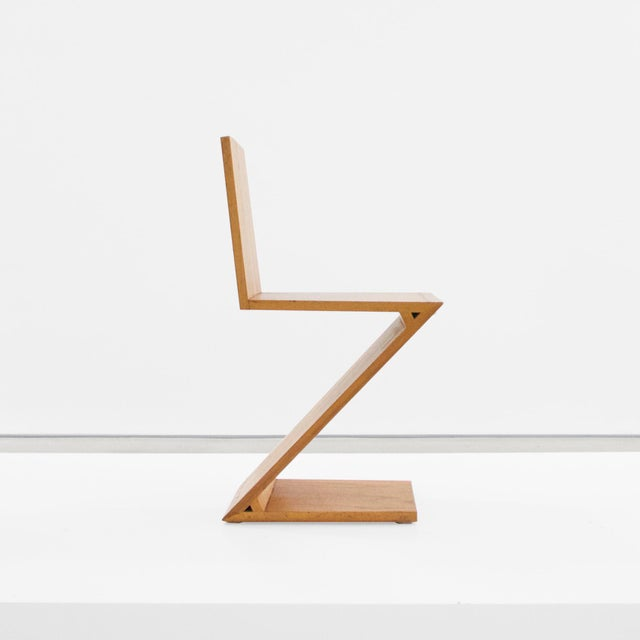 1960s Gerrit Rietveld, Zig Zag Chair, C. 1969 For Sale - Image 5 of 5