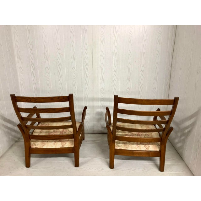 Ash 1980s Mid-Century Modern Ercol Savlle Arm Chairs - a Pair For Sale - Image 7 of 10