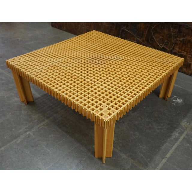 """Beech """"Kyoto"""" Coffee Table by Gianfranco Frattini For Sale - Image 7 of 8"""