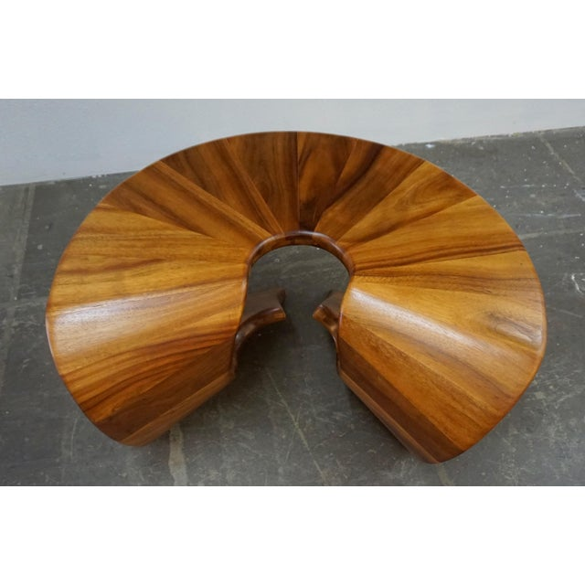 Art Deco Laminated Walnut Coffee / Side Table For Sale - Image 3 of 11