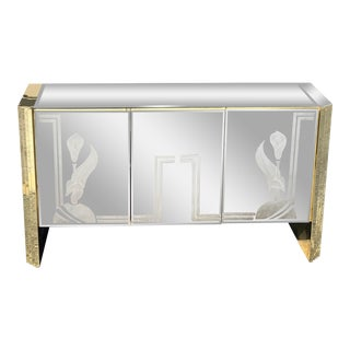 1960's Vintage Ello Mirrored Sideboard For Sale
