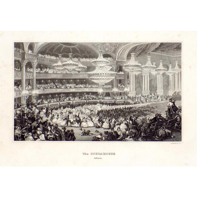 """The Opera House in Paris"" 1855 Engraving - Image 6 of 6"