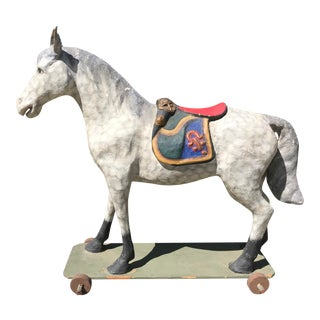 1870s Antique French Toy Hobby Horse For Sale