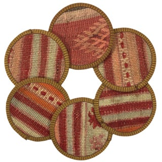 Kilim Coasters Set of 6 | Çarşıkapı For Sale