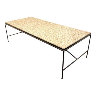 1960s Arden Riddle Tile Top Coffee Table For Sale