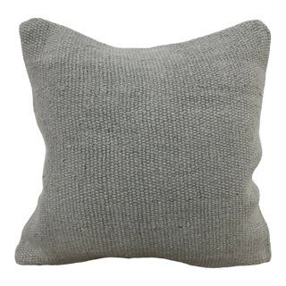 Turkish Gray Hemp Organic Kilim Pillow Cover For Sale