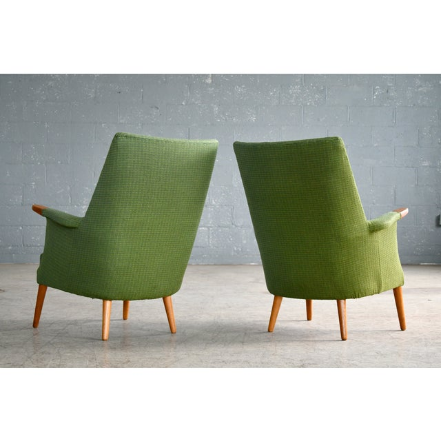 Danish 1960s Hans Wegner Mama Bear Style Lounge Chairs by Poul Jessen - a Pair For Sale - Image 10 of 13