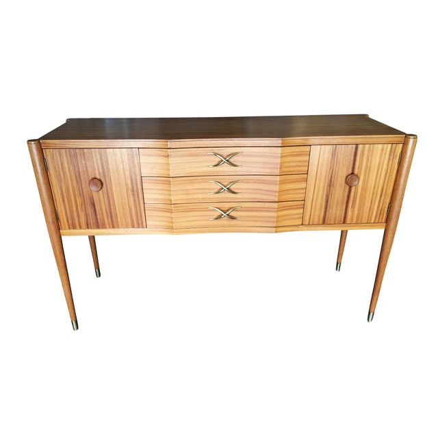 Mid-Century Walnut Dining Room Set Table, Chairs, Buffet - 8 Pc. Set For Sale - Image 9 of 10