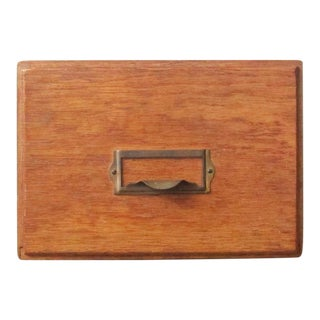 1950s Vintage Library Card Catalog Drawer For Sale