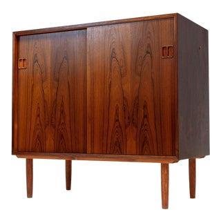 1960's Vintage Danish Modern Teak Media Cabinet