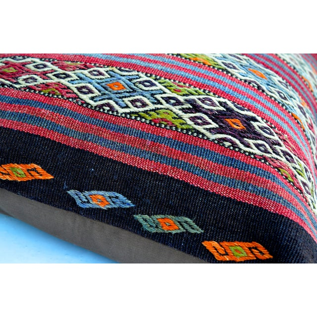 "Vintage Kilim Pillow 24"" X 24"" - Image 2 of 3"