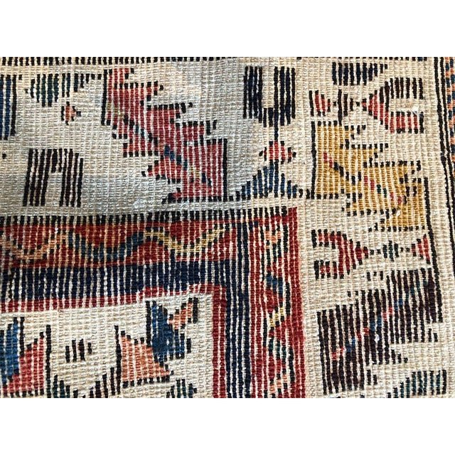 Persian Early 19th Century Antique Persian Bakhtiari Runner Rug - 3′8″ × 9′ For Sale - Image 3 of 7