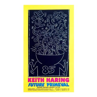 Vintage Keith Haring Exhibit Poster For Sale