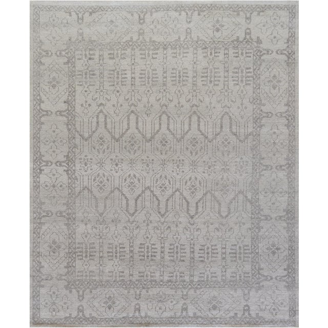 "Transitional Mansour Genuine Handwoven Rug - 8'3"" X 9'10"" For Sale - Image 3 of 3"